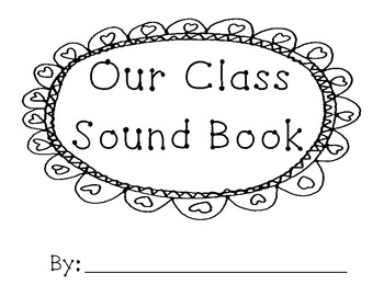 Letter Sound Class Book Template