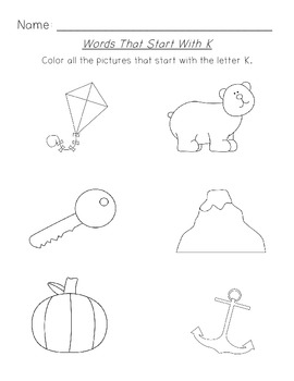 Letter Sound Coloring Worksheets