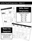 Letter Sound Comparison Sorts (Reading Wonders Kindergarte