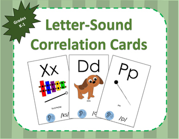 Letter-Sound Correlation Cards