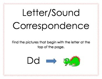 RTI Beginning Letter Sound Match