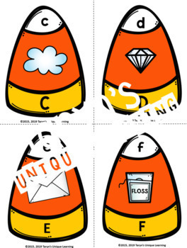 Letter Sound Candy Corn Puzzles