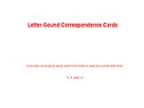 Letter-Sound Correspondence Cards