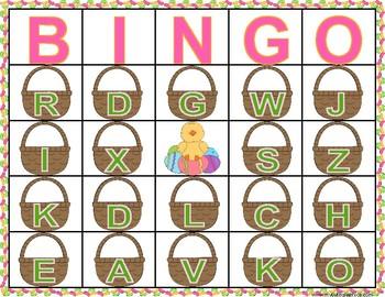 Letter Sound Correspondence Easter Bingo