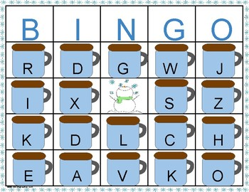 Letter Sound Correspondence Hot Chocolate Bingo