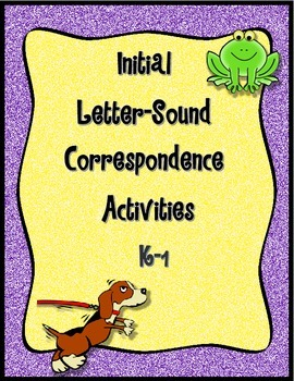 First Sounds Fluency (RTI or Literacy Center)--K-1