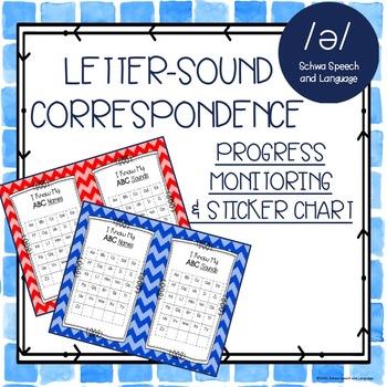 Letter-Sound Correspondence Progress Chart