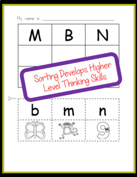 Beginning Sounds and Alphabet Letter No Prep Cut and Paste Worksheets