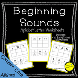 Letter Sound Cut and Paste No Prep Worksheets