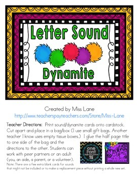 Letter Sound Dynamite Game