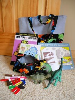 Dinosaur literacy Prop Bag Instruction Book Only