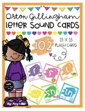Letter Sound Flash Cards [Orton Gillingham]