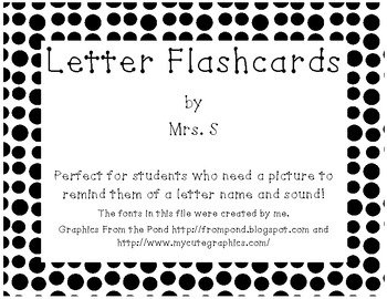 Letter Sound Flashcard Set