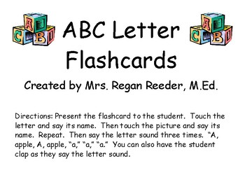 Letter Sound Flashcards