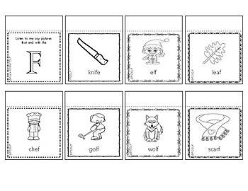 Articulation Sound Practice - Letter/Sound Mini Picture Flip Books