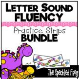 Letter Sound Fluency Quick Practice Strips - BUNDLE