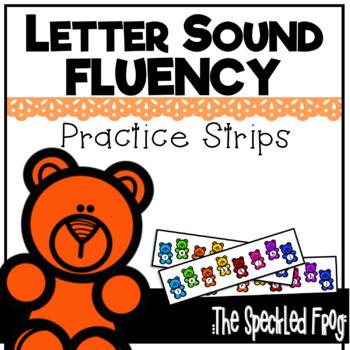 Letter Sound Fluency Quick Practice Strips - Bears