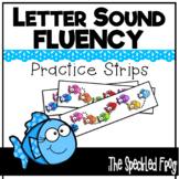 Letter Sound Fluency Quick Practice Strips - Fish