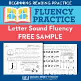 Alphabet Letter Sound Fluency Homework Sampler (FREE)