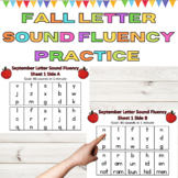 Letter Sound Fluency Homework and Center Practice for Fall