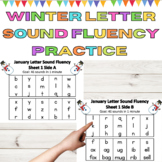 Letter Sound Fluency Homework and Center Practice for Winter