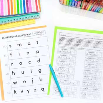 Letter Sound Fluency Homework or Intervention Bundle