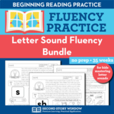Letter Sound Fluency Homework or Intervention Bundle (12 Weeks)
