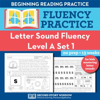 Letter Sound Beginning Sound Fluency Practice Level A Set 1