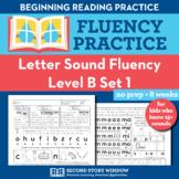 Letter Sound Beginning Sound Fluency Practice Level B Set 1