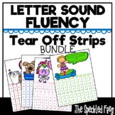 Letter Sound Fluency Tear Off Strips:  Bundle I