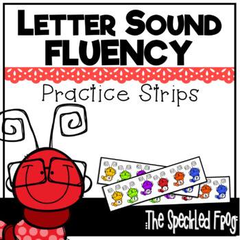 Letter Sound Fluency Quick Practice Strips - Early Sounds - Worms