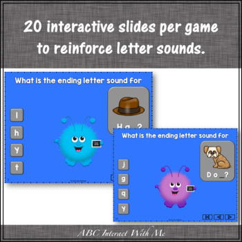 Letter Sound Fun! Beginning, Ending & Short Vowels Interactive Games {Monster}
