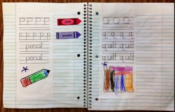 Letter-Sound Handwriting Pages: Tactile-Visual Phonics