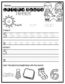 Letter Sound & Handwriting Practice