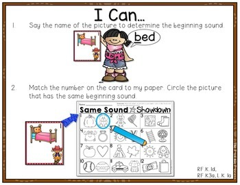 Beginning Sounds Centers & Activities