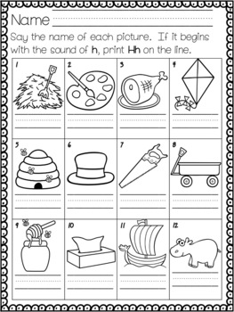 Letter Sound - Identify and Write the Letter