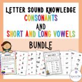 Letter Sound Knowledge - Consonants, Short and Long Vowels BUNDLE