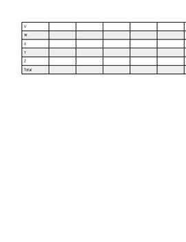 Letter Sound/ Letter ID data sheet