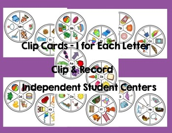 Beginning Sounds Literacy Centers