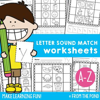 Letter Sound Match Worksheets