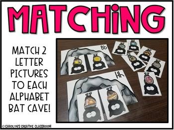 Letter Sound Matching Bat Cave Literacy Center