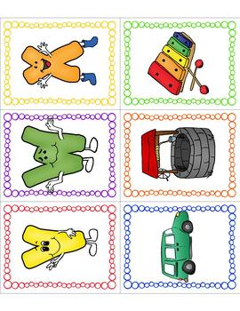 Letter Sound Matching Card Game or Flashcards