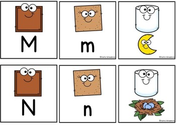Letter Sound Matching Game S'mores