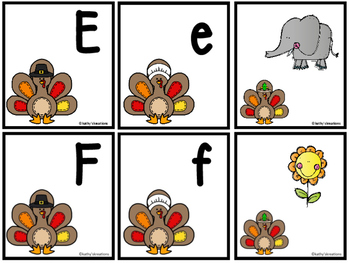 Letter Sound Matching Game Turkeys