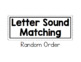 Letter Sound Matching Practice Book