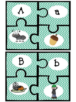 Letter-Sound Matching Puzzles- PERFECT for Centers