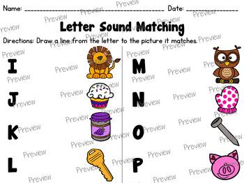 Letter Sound Matching Worksheets