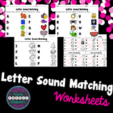 Letter Sound Matching Worksheets