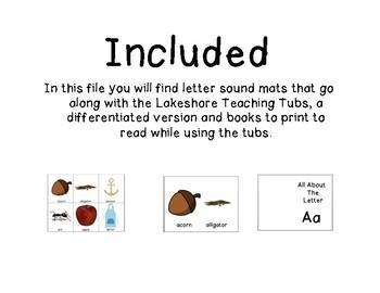 Lakeshore Teaching Tubs Letter Sound Mats Bundle
