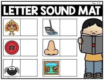 Letter Sound Mats {Activities to Teach Beginning Sounds}